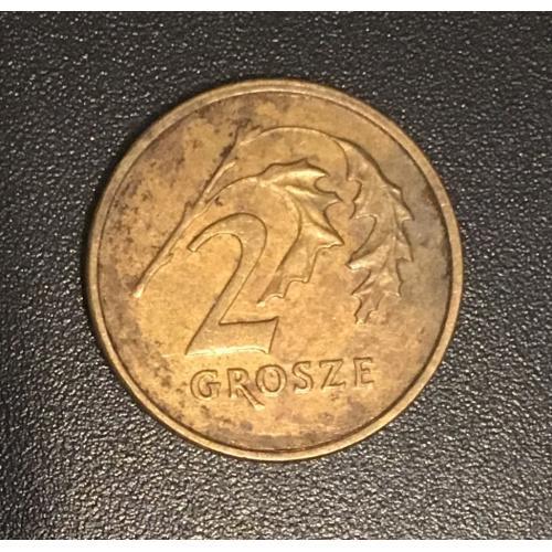 Монета Польша 2 гроша,1992