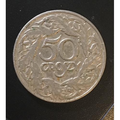 Монета Польша 50 грош,1923.1