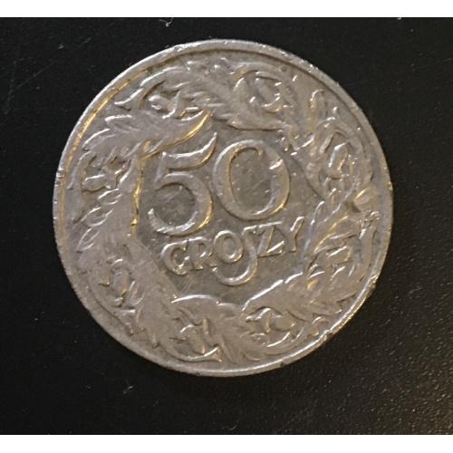 Монета Польша 50 грош,1923