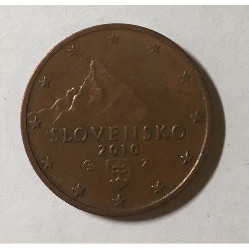 Монета Словакия 2 евроцента, 2010 год