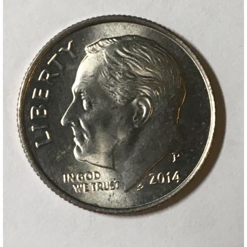 Монета США 10 центов, 2014 год, P