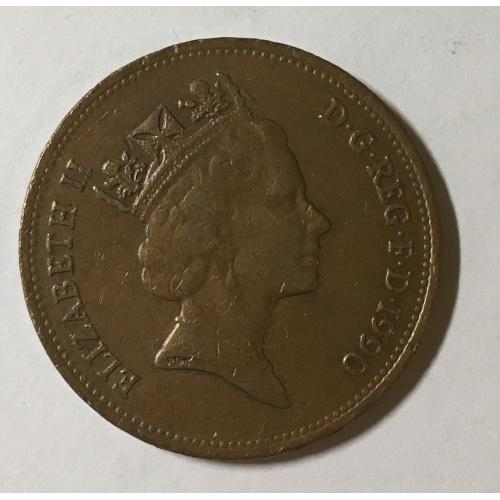 Монета Великобритания 2 пенса,1990 год