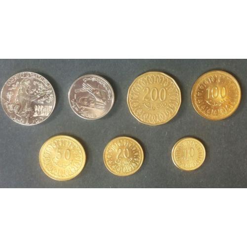 Набор монет Тунис