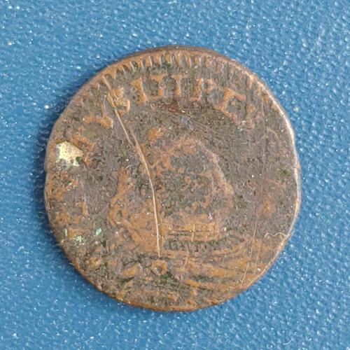 Один грош 1755 год Польша 1 грош 1755 рік Польща Август ІІІ