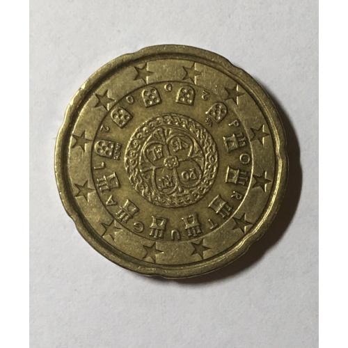 Португалия 20 евроцентов, 2002 год