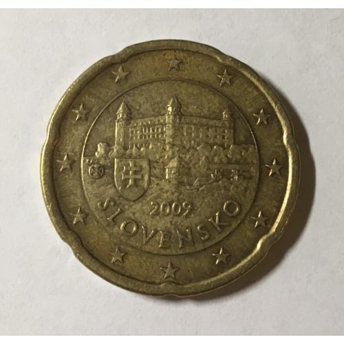 Словакия 20 евроцентов, 2009 год