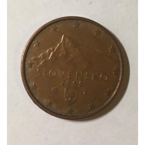 Словакия 5 евроцентов, 2009 год