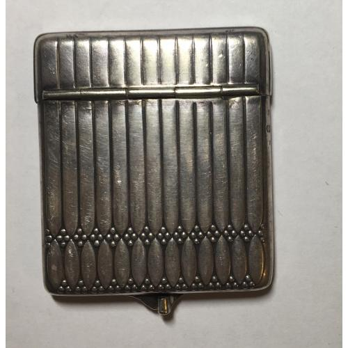 Спичечница верхняя часть из серебра, Европа начало 20 века