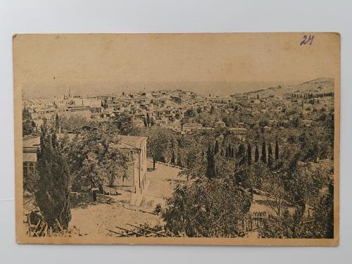 Старинная открытка. Крым Алушта Общий вид