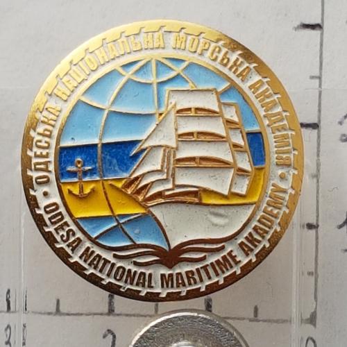 Знак у важк. мет. Одеська Національна морська академія Odesa National Maritime Akademy