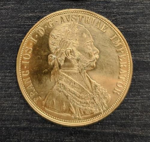 4  дуката 1915, золото. Франц Иосиф, Австро-Венгрия