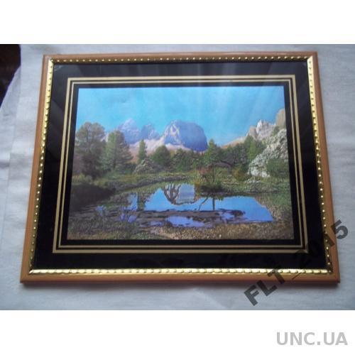 Настенная картинка Озеро у подножья горы