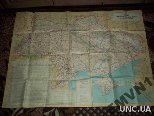 Схема автодорог Украины и Молдовы