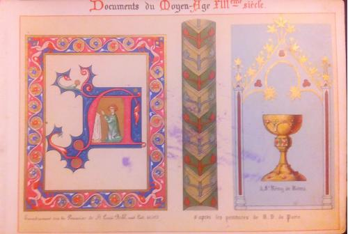 1850 год Евангелие король Франция орнамент альбом икона
