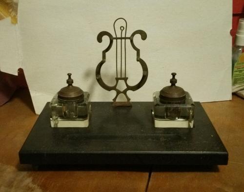 150 лет редкий Письменный прибор Италия Франция мрамор бронза чернильница