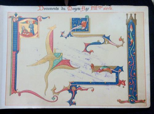 Супер раритет Евангелие король Франция готика альбом орнамент книга