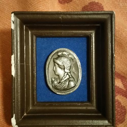 Картина монета медальон Рим Греция Афина