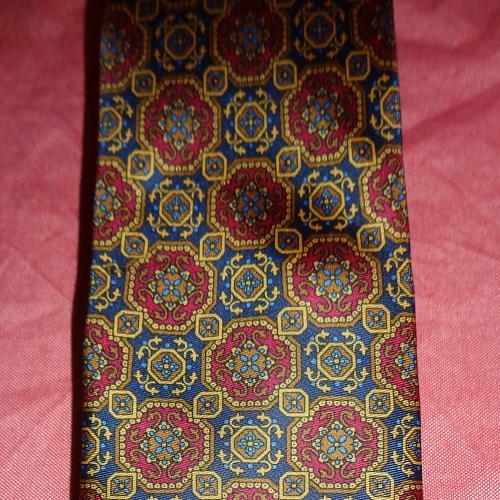 Редкий дорогой галстук Швейцария шелк