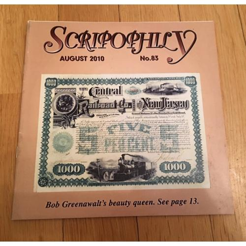 Журнал Scripophily — Международное Общество Скрипофилов IBSS — выпуск 83 — 2010 г.