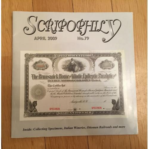Журнал Scripophily — Международное Общество Скрипофилов IBSS — выпуск 79 — 2009 г.