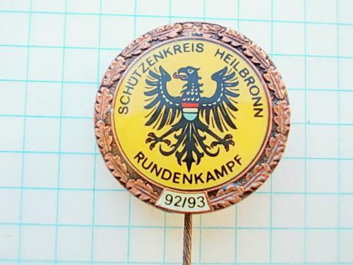 №167 Значок бронзовый орел участнику соревнований стрелков HEILBRONN Германия 92 / 93 на иголке №1