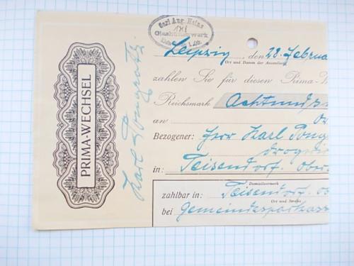 №183 Платежный Вексель на оплату Германия 1931