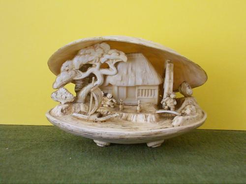 №240 Коллекционная фигурка ракушка японская инсталляция внутри тонкая ручная работа