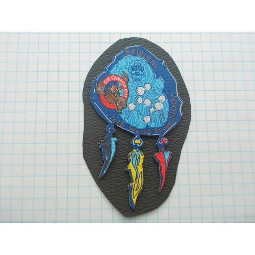 №694.6 Этикетка фирменная новая на ткани коллекционный вариант Belgium