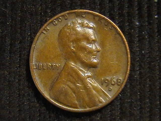 1 цент 1968 D  Денвер США