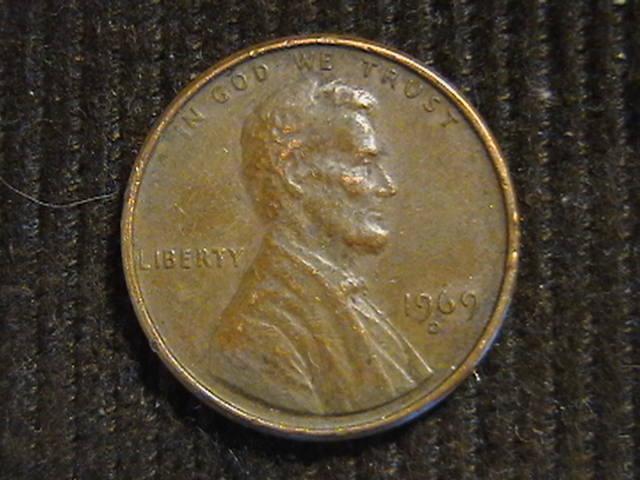 1 цент 1969 D  Денвер США