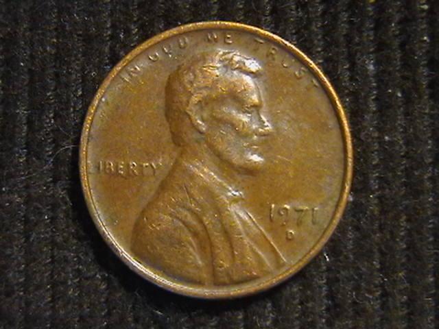 1 цент 1971 D  Денвер США