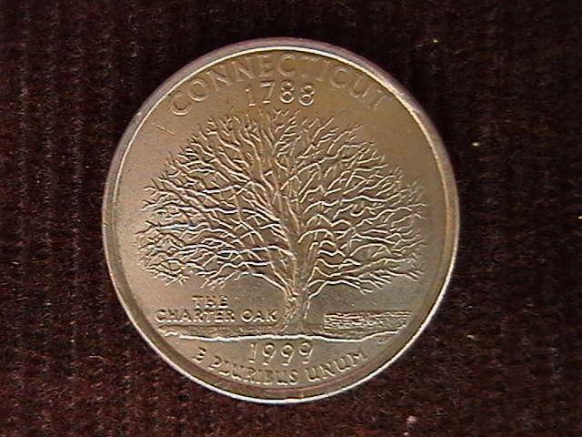 квотер 25 центов  1999 P  CONNECTICUT 1788