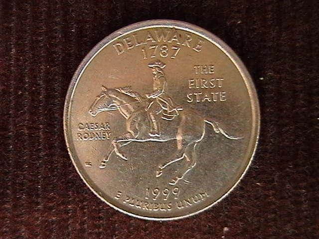 квотер 25 центов  1999 P DELAWARE 1787