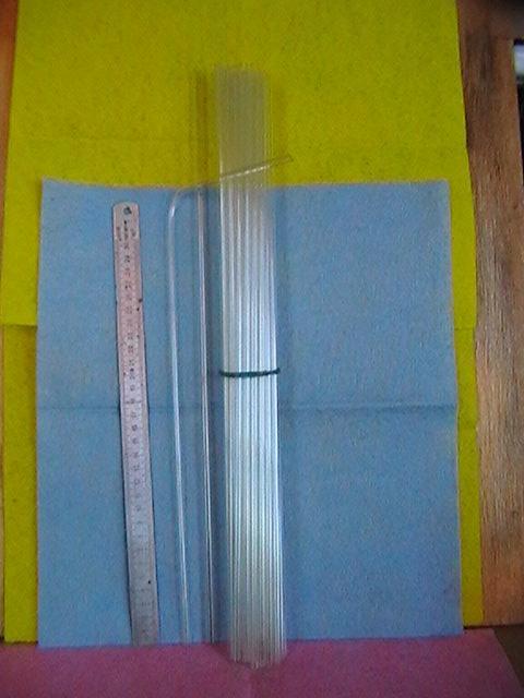 Трубки из легко-плавкого стекла внеш. диаметр= 5.5 мм. в лоте 4 трубки