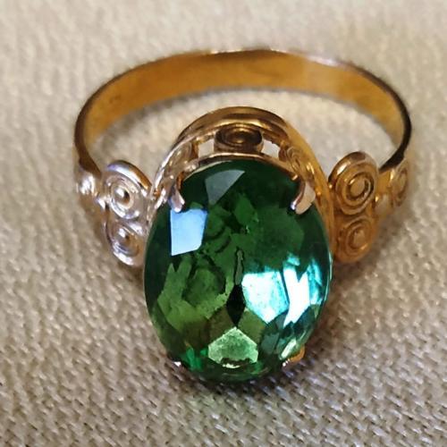 кольцо позолота бижутерия клеймо