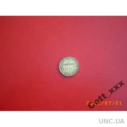 20 евро цент 2002г. J - ГЕРМАНИЯ