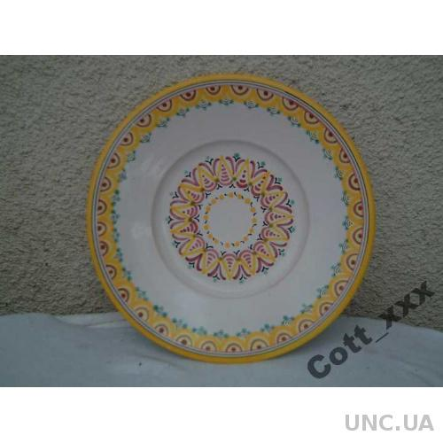 Керамика - Настенная тарелка - Европа .