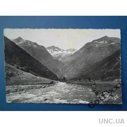 Открытка с маркой 1953 года - ФРАНЦИЯ.