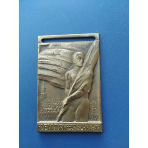 Швейцария - Медаль - Берн 1947 года - тяж . мет . - клеймо - Б/У . НЕ частая .