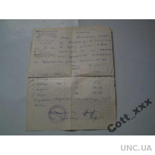 Справка - 1,04,1986 года - СССР