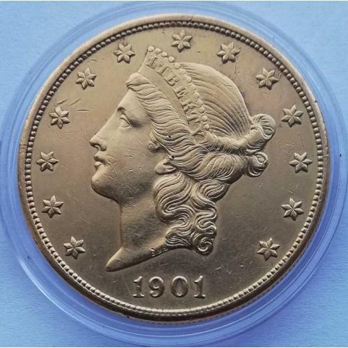 20 Dollars Gold Double Eagle Liberty Head 1901