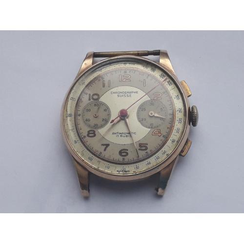 Швейцарские золотые часы Chronograph Suisse