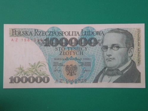 100000 ЗЛОТИХ 1990 ПОЛЬЩА КОПІЯ