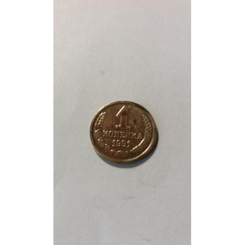 монета 1коп.1991г.м.
