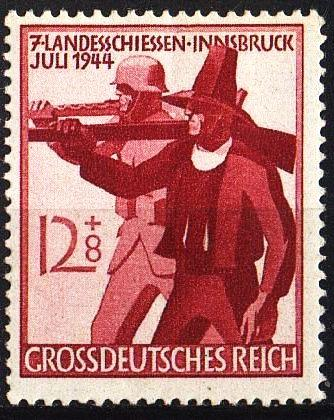 Grossdeutsches Reich. 1944г. 12+8 и 6+4 pf. Mi.897-98. MNH.