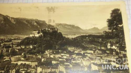 Открытка (ПК). Австрия. Зальцбург. Капуцинерберг. 1936г. Лот 190