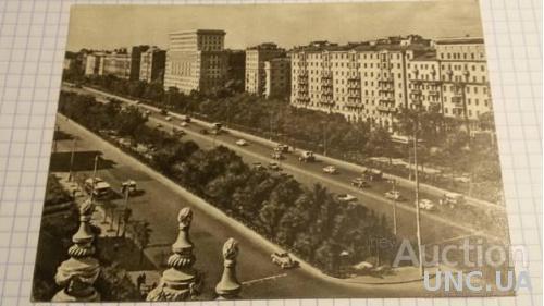 Открытка (ПК). Москва. Ленинградское шоссе. 1956г. Лот 215
