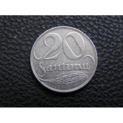 20 сантимов Латвия 1922 г