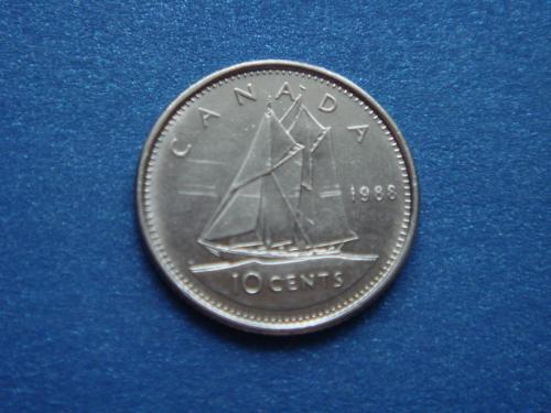 Канада, 10 центов 1988 г.