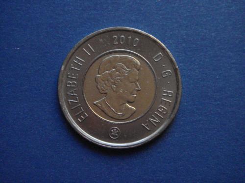 Канада, 2 доллара 2010 г.